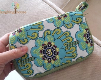 Samsung Galaxy Note Case/Mini Purse (Contempo Blooms in Cool)