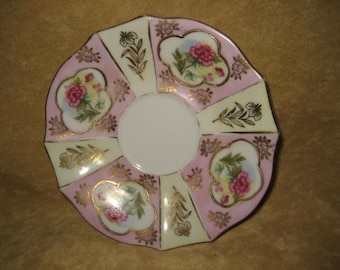 China Plate - Dish Ucago Rose & Gold Accents Vintage