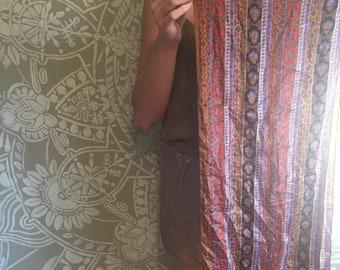 Vintage Bohemian Print Silk Scarf