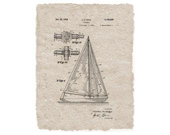 Sailboat Patent Digital Print