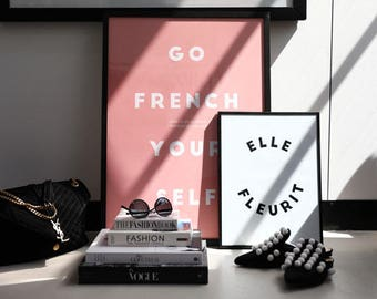 Feminine Blush Print | Luxe Minimalist Typography Print | STYLISH MONOCHROME Print | CHIC Minimalist Print | Stylish Typography Print
