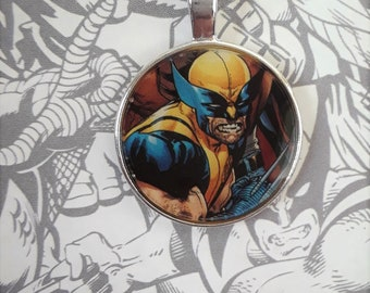 "1"" Wolverine claws out necklace"