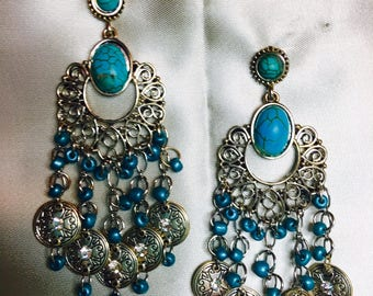 Blue Dancer Earrings