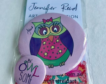 Be Owlsome Owl Button Pack