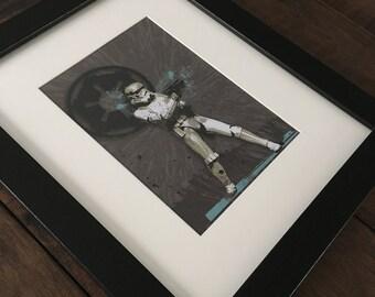Stormtrooper Inspired Framed Art, Star Wars Inspired Decor, Boy Room Decor, Kid Room Decor, Man Cave Decor, Gift for Him, Baby Shower Gift