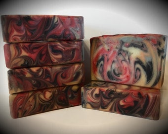 Bonfire Bliss scented soap, handmade soap, artisan soap, cold processed soap