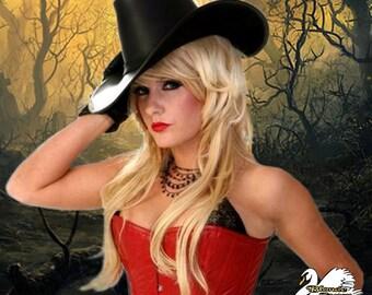 Huntress Vampire Hunter Leather Hat