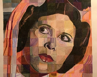 Fine Art Print, Princess Leia, Colored Pencil, Star Wars, Torchon print