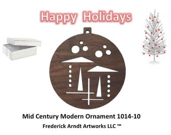 1014-10 Mid Century Modern Christmas Ornament