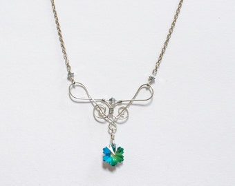 Treble Clef Wire-Wrapped Necklace
