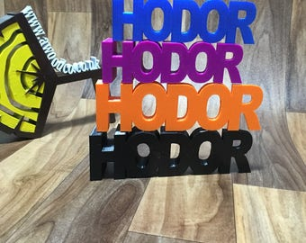 HODOR doorstop Game of Thrones- small and large.  Keep the Whitewalkers out!- 3D printed