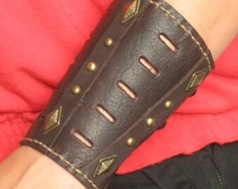 Steampunk Medieval Futurist Sci-fi Armor Leather Bracer