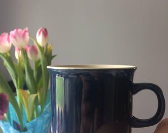 cobalt blue stoneware mug stacking