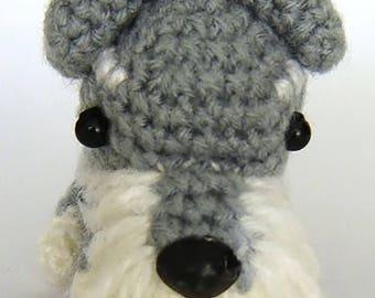 Crochet Amigurumi Dog Key-Ring / Charm [Miniature Schnauzer]
