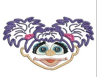 Abby Cadabby Applique, Sesame Street, Abby Cadabby Embroidery (35) Instant Download
