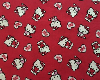 Hello Kitty Red Fat Quarter