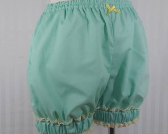 Mint mini sweet lolita fairy kei bloomers shorts with wide cuff adult woman size small-plus size