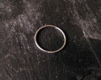 Silver Stacking Ring, Minimalist Style, Handmade.