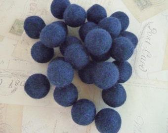 Felt Balls x 10 - Navy Blue - 2cm