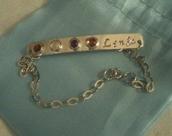 Ankle Bracelet with Gemstones Personalized