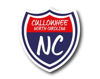 Cullowhee, NC Bumper Sticker Decal