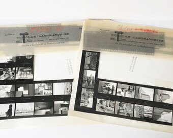 Photography Proof Sheet 1967 New York Photos with negatives Chelsea Expo 67 photos