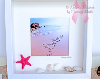 Gifts for breast cancer patients- Beautiful Beach Decor - Breast cancer gifts- Cancer gifts- Unique housewarming Gift- Believe