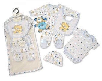 Bay boy Layette Gift with a soft toy