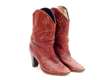 Cowboy Cowgirl Western Boots Vintage Retro