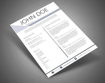 SCALENE III Resume & Cover Letter Design Template