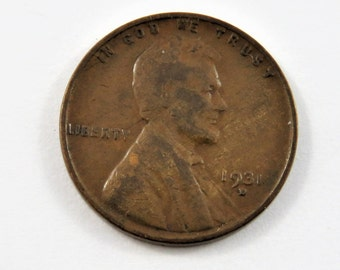 U.S. 1931 D Lincoln One Cent Coin.