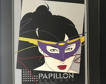 "Patrick Nagel Original Serigraph ""Papillon"" Gallery Artist SIP"