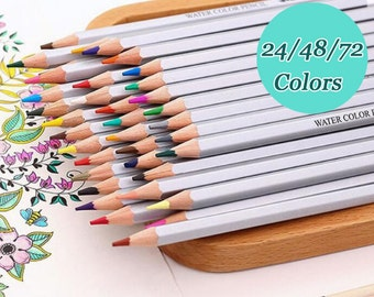 24/48/72 Colors/Set Wood Water Soluble Pencils Watercolor Assorted for Artist Sketch TZ328