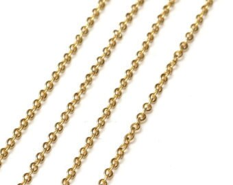 """35"""" GOLD LINK 2.5mm Necklace Chain with Lobster claw clasp (CH100)"""