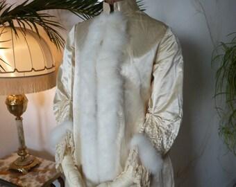 1880 Wedding Trousseau Robe, antique dress, antique gown, Victorian dress,  ca. 1880