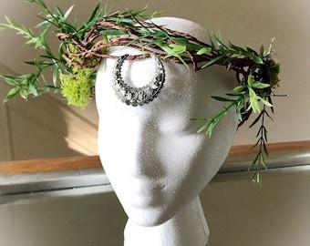 Moon Goddess Woodland Crown