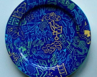 Bopla! GRAFFITI series. Dish manufactured by Langenthal, Switzerland, between 1993 and 1997 was discontinued