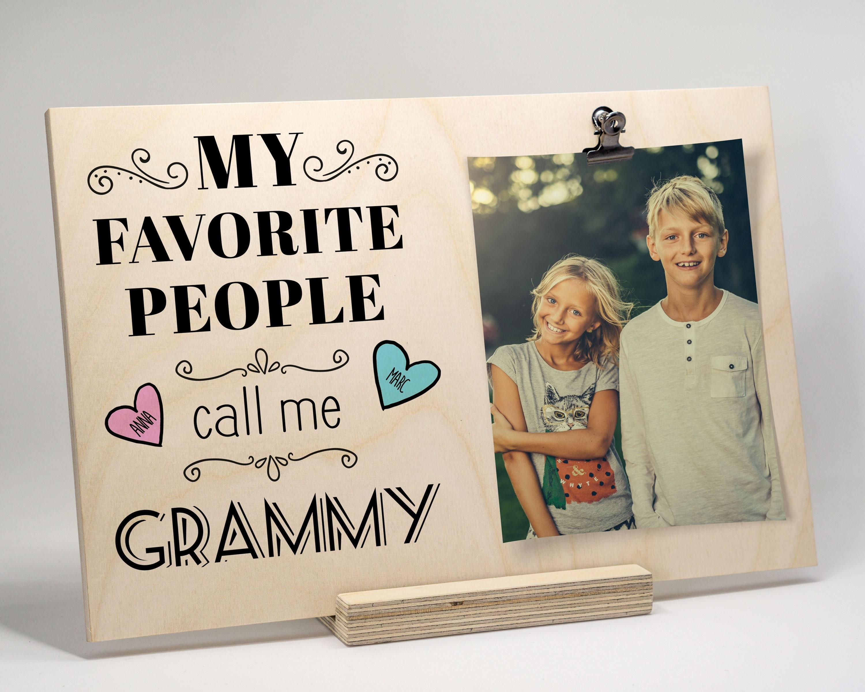 Grandma Picture Frame, Personalized Gift For Grandma, Grandma Gift ...