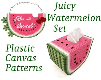PATTERN: Juicy Watermelon Set in Plastic Canvas