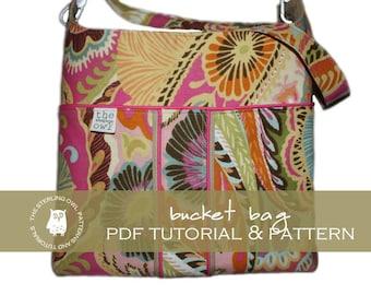 Bucket Bag - PDF Tutorial & Pattern