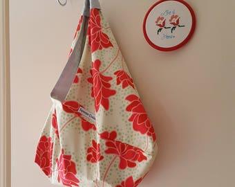 Garden Pop - Large Bento Bag, Handbag, Shoulder Bag, Project Bag, Reusable Market Bag, Lined Bag, Ecofriendly