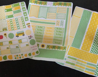 August Theme planner stickers