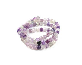 10 pearls of natural Fluorite 5 / 5.5 mm LBP00544