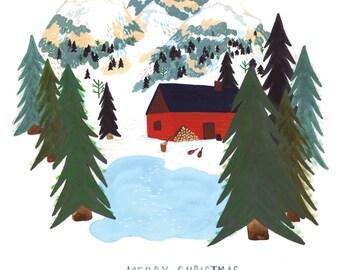 Mountain Home Christmas Card Set