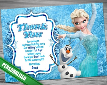 Elsa Frozen Thank you card