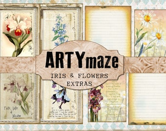 IRIS & FLOWERS EXTRAS    Instant download