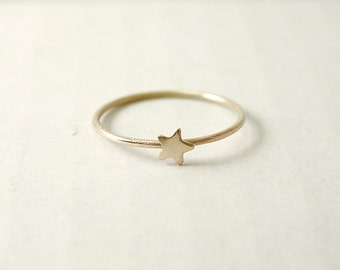 Tiny star ring - gold star ring - little star ring - twinkle star - dainty ring - simple minimal
