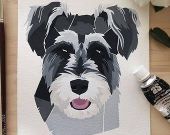 Pet Portrait , Custom Portrait, Pet, Modern pet portrait , Dog portrait Australia , Painting, Pet portrait Australia , dog painting