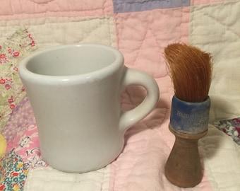 Vintage McNicol China Shaving mug with brush