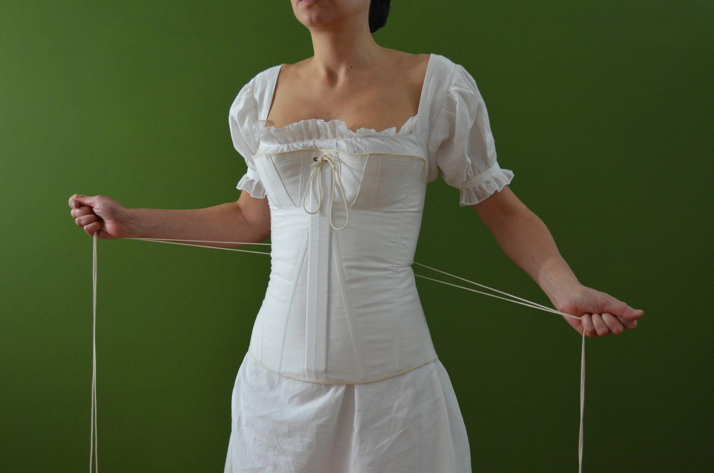 Corsetto in cotone bustino vittoriano corsetto 1840 for Come decorare lo stile vittoriano